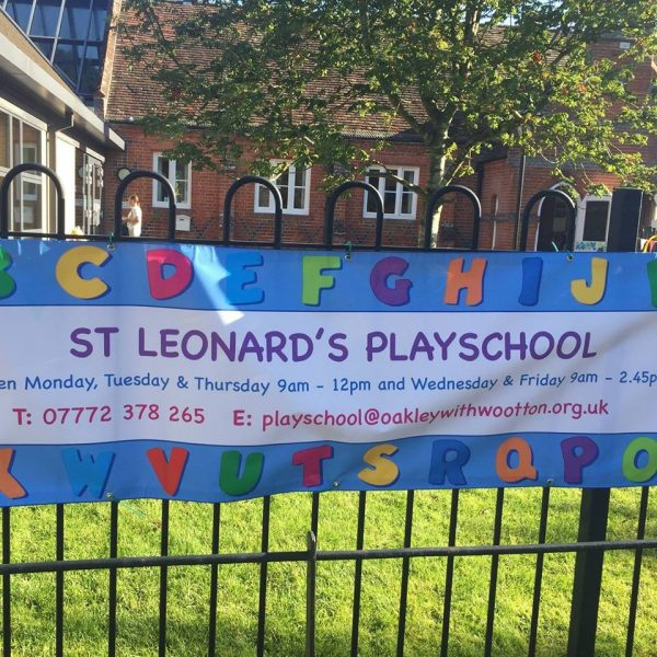 Early Years Manager wanted for St Leonard's Pre-School, Oakley